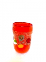 "Glass ""Mirò"" Orange in Glass with Murrina"