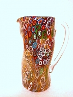 Pitcher in Glass with Murrina and Gold Leaf