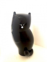 Black Cat in Blown Glass