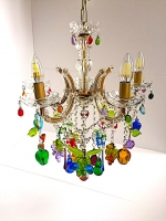 "Chandelier ""Fruits"" in Multicolor Glass"