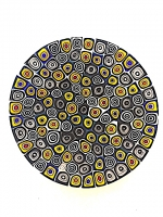 Plate n° 001 in Glass Mosaic - Murrina