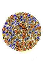 Plate n° 003 in Glass Mosaic - Murrina