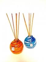 Set 2 Perfume Diffuser in Multicolor Glass