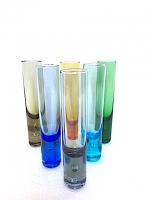 Set of Grappa in Multicolor Glass