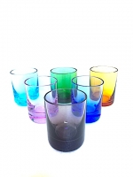 Set of Liquor in multicolor Glass