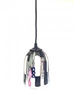 """Suspension Lamp """"Bizzarro"""" Black/White in Glass"""