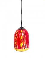"Suspension Lamp ""Briccola"" Orange/Yellow in Glass"