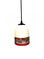 "Suspension Lamp ""Cà D'oro"" White/Amber in Glass with Murrine"