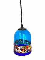 "Suspension Lamp ""Cà d'oro"" Light Blue in glass with Murrine"