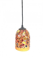 "Suspension Lamp ""Klimt"" Amber in Glass with Murrine"