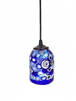 "Suspension Lamp ""Inverno"" Blue in Glass with Murrine"