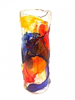 "Vase Tall in Glass ""Sbruffi"""