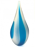 Vase Light Blue in Glass Inlaid
