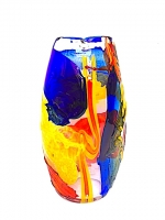 "Vase Oval Tall in Glass ""Sbruffi"""